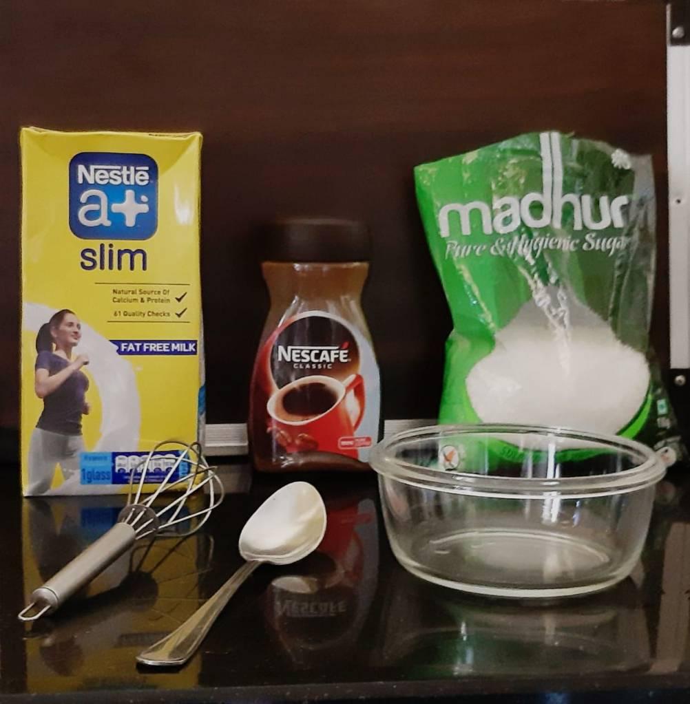 Dalgona Coffee Ingredients