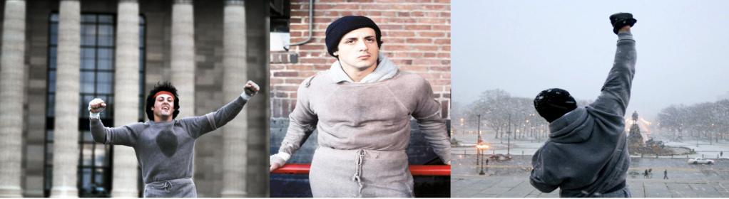 Rocky 1976 Grey Hoodie.